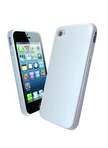 Microsonic Glossy Soft Kılıf iPhone  4S Beyaz Renkli